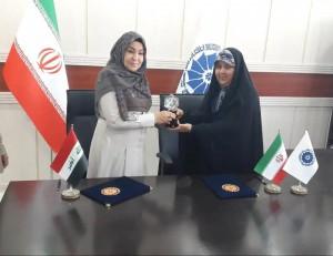 امضای تفاهمنامه همکاری بین اتاق بازرگانی اهواز و انجمن زنان جنوب عراق