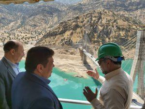 بازدید معاون امور عمرانی استاندار از پروژه احداث پل سه بلوطک ایذه